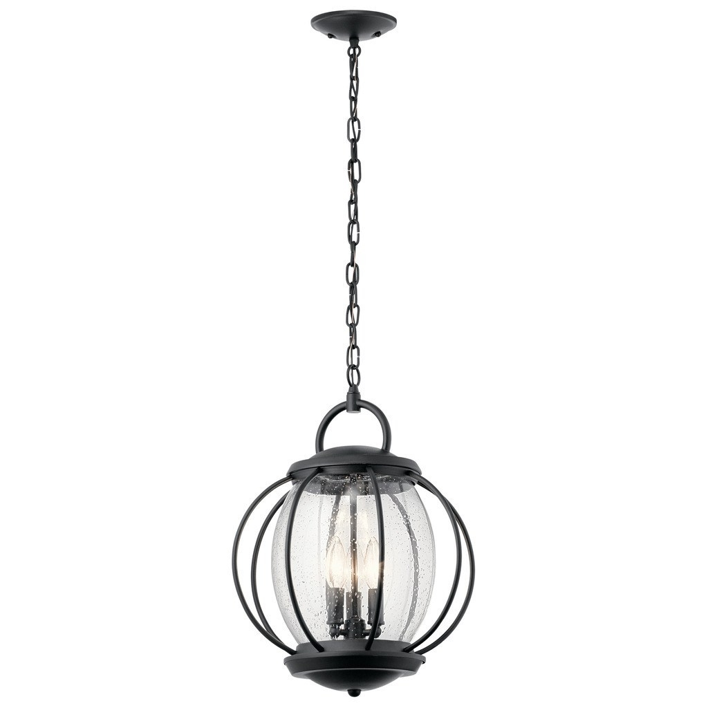 Most Up To Date Kichler Lighting Vandalia Collection 3 Light Textured Black Outdoor Pertaining To Outdoor Pendant Kichler Lighting (View 7 of 20)