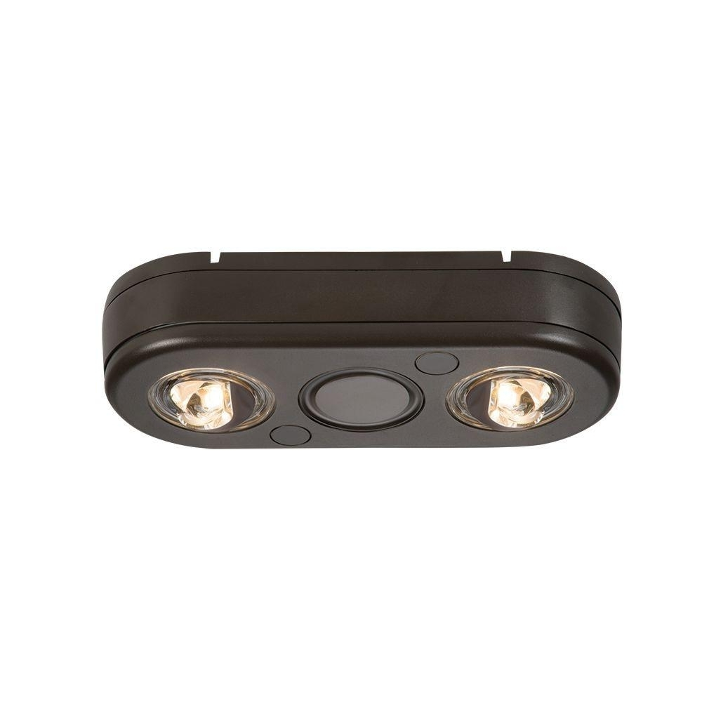 Most Up To Date Lithonia Lighting Wall Mount Outdoor Bronze Led Floodlight With Photocell Inside All Pro Revolve White Twin Head Outdoor Integrated Led Security (View 15 of 20)