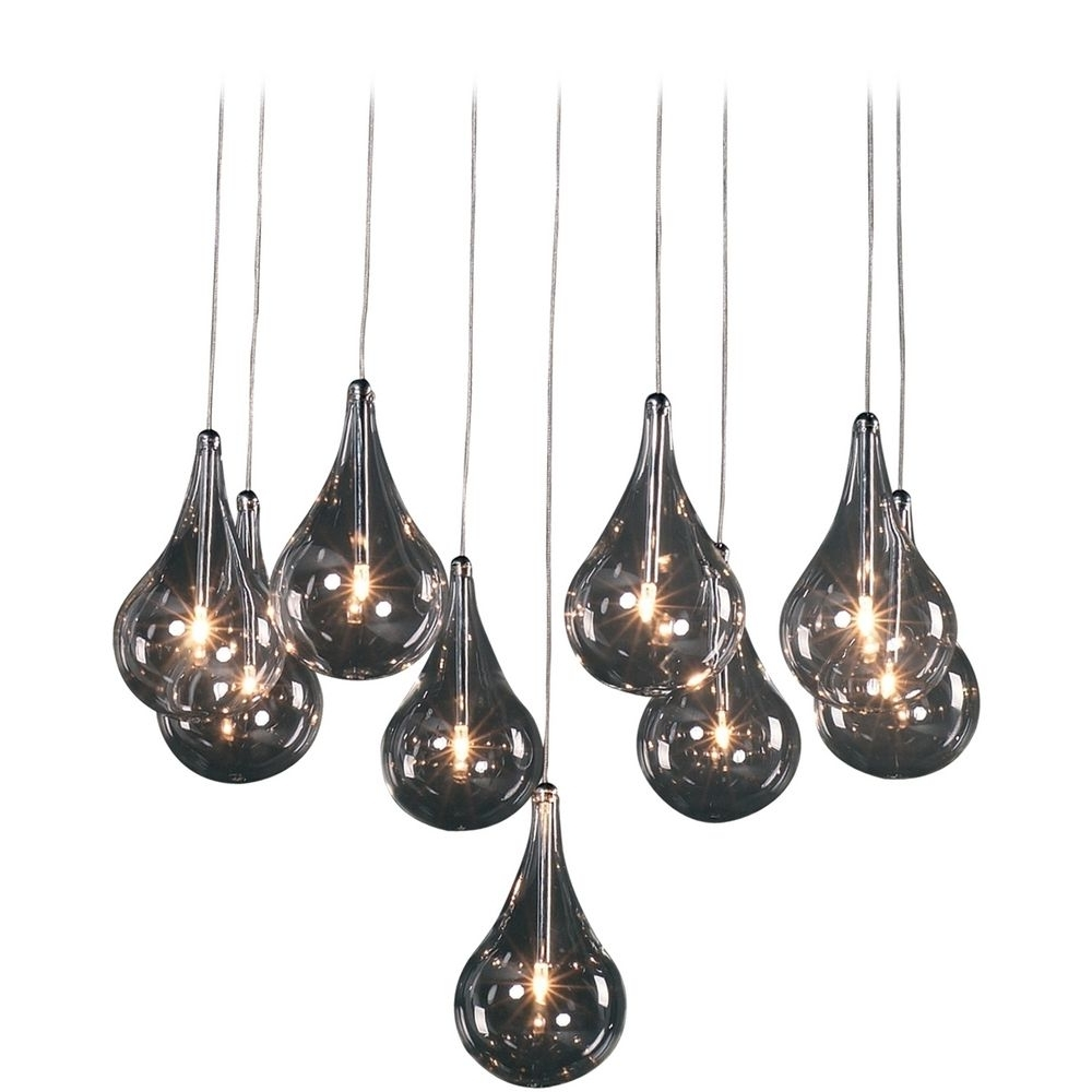 Most Up To Date Modern Low Voltage Multi Light Pendant Light With Clear Glass And 9 Intended For Outdoor Hanging Low Voltage Lights (View 2 of 20)