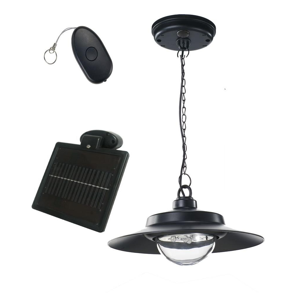 Most Up To Date Nature Power 4 Light Black Indoor/outdoor Solar Powered Led Hanging Pertaining To Outdoor Solar Ceiling Lights (View 4 of 20)