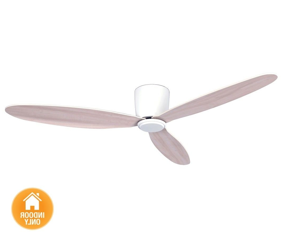 Most Up To Date Outdoor Ceiling Fan Beacon Lighting Pertaining To Beacon Lighting – Airfusion Radar 132cm Low Profile Dc Fan Only In (View 5 of 20)