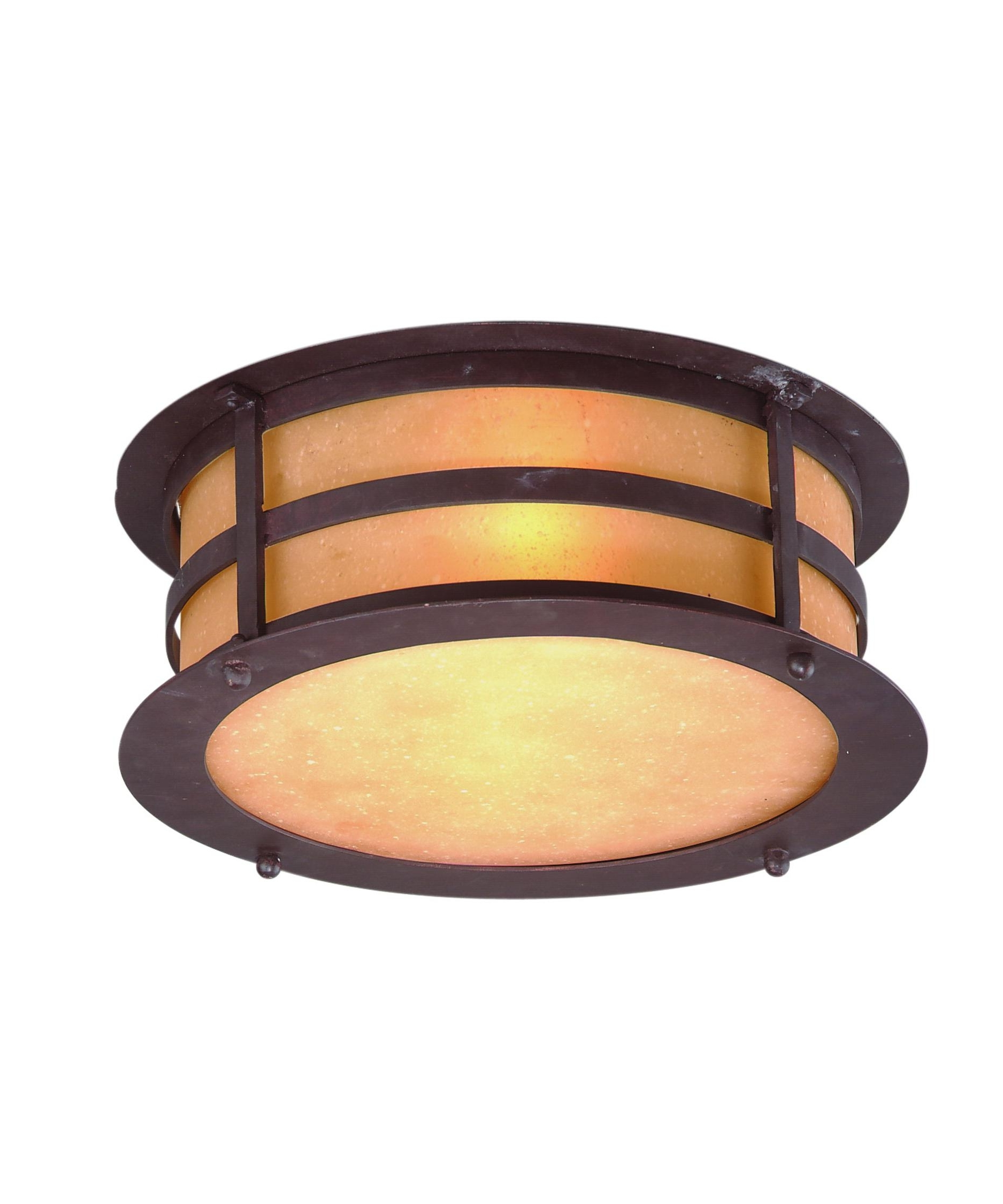 Most Up To Date Outdoor Ceiling Flush Lights Intended For Troy Lighting C9251 Aspen 13 Inch Wide 2 Light Outdoor Flush Mount (View 16 of 20)