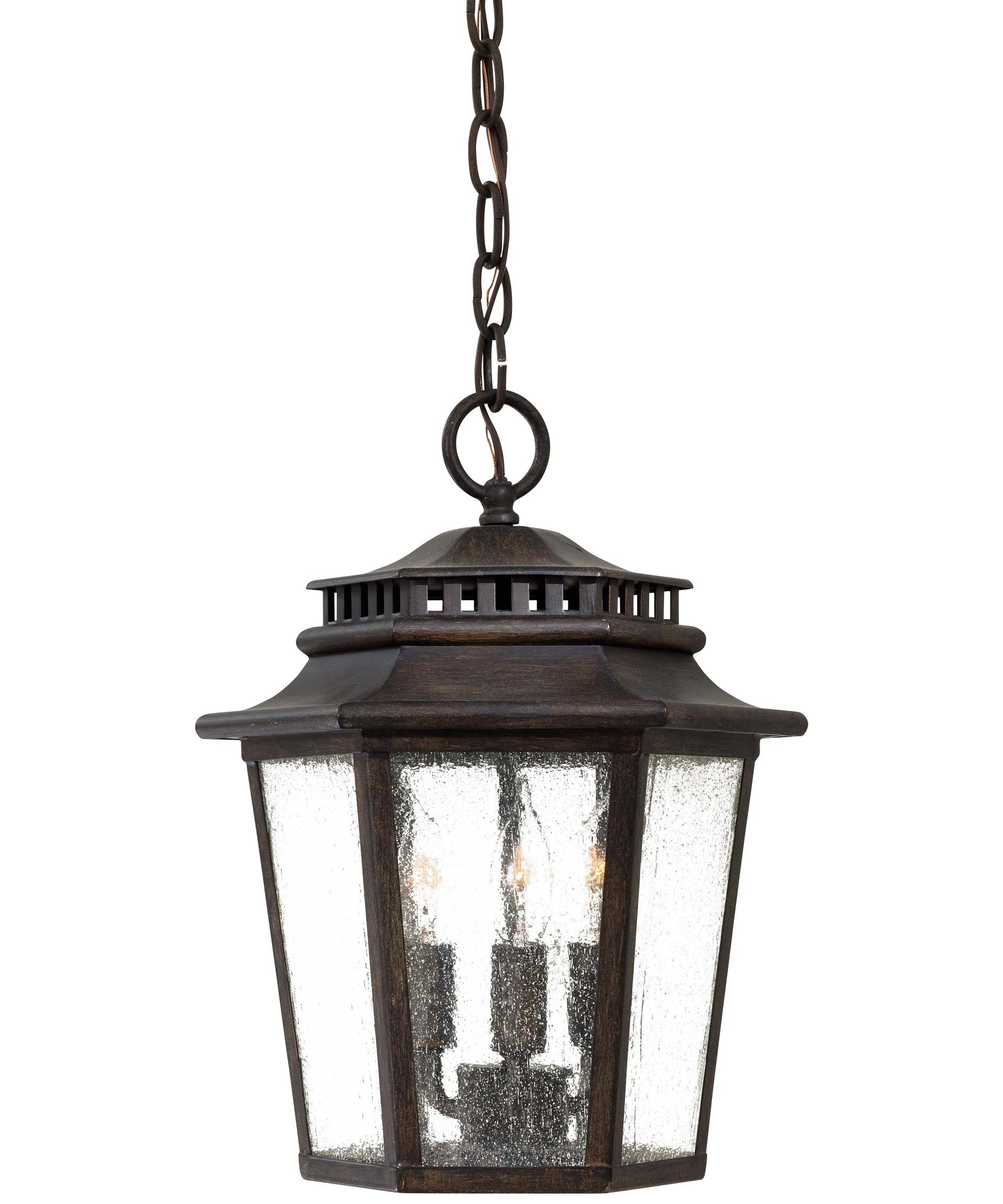 Most Up To Date Outdoor Ceiling Hanging Lights Regarding Minka Lavery 8274 Wickford Bay 11 Inch Wide 3 Light Outdoor Hanging (View 13 of 20)