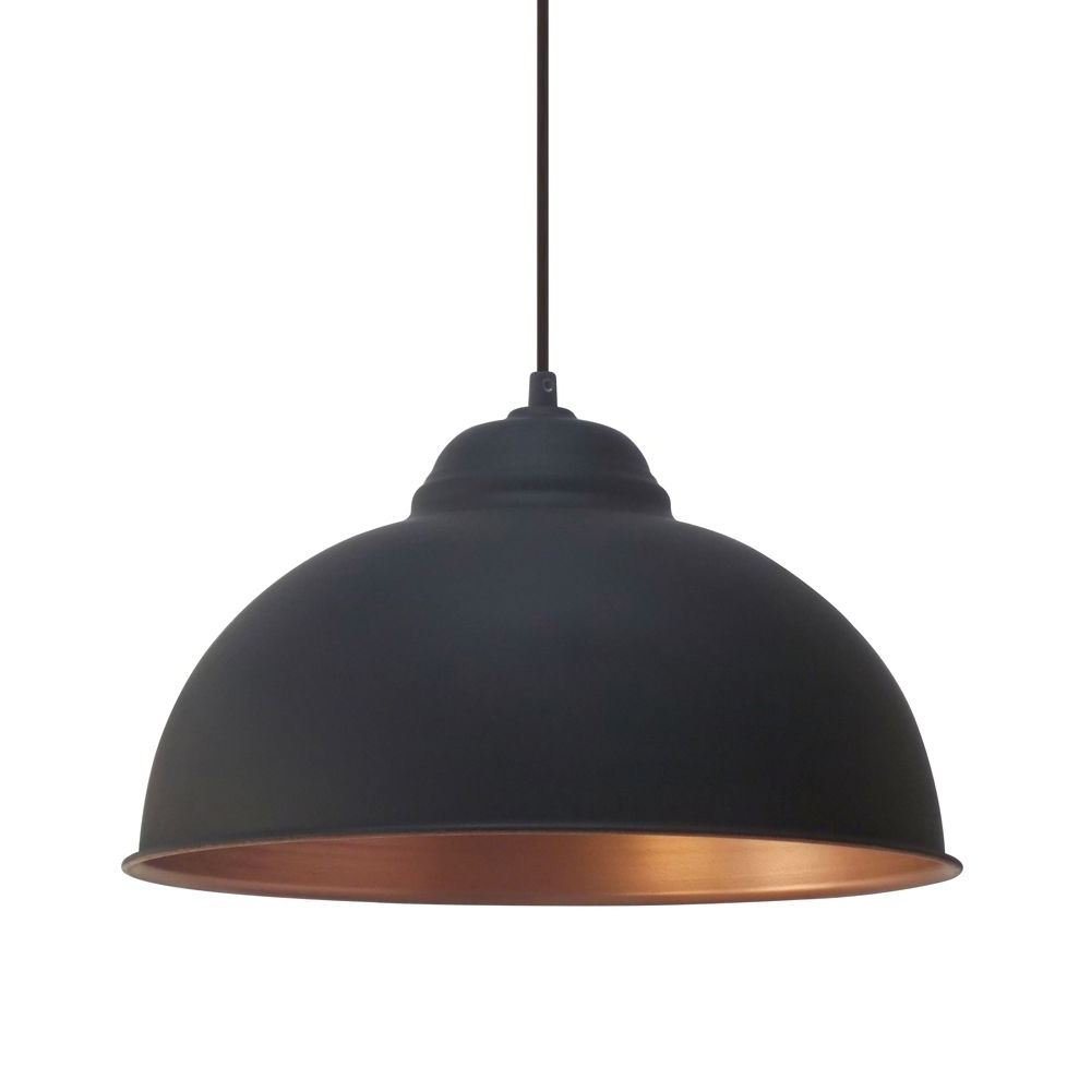 Most Up To Date Outdoor Hanging Bar Lights For Eglo Vintage (49247) Black And Copper 370 Pendant (View 10 of 20)