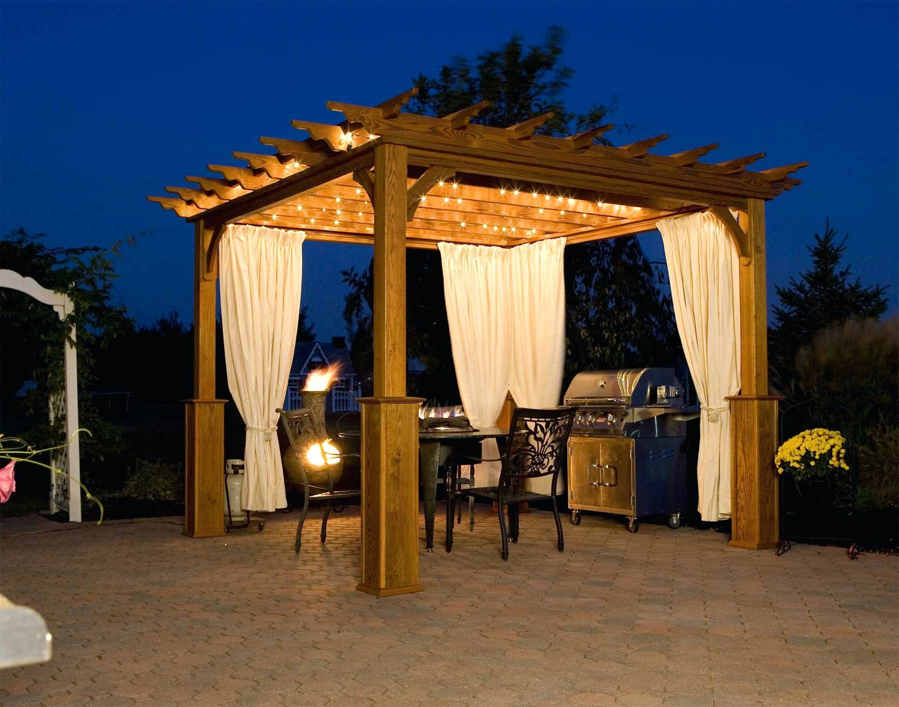 Most Up To Date Outdoor Hanging Gazebo Lights Throughout Creactividad Page 37: Gazebo Aluminium (View 9 of 20)