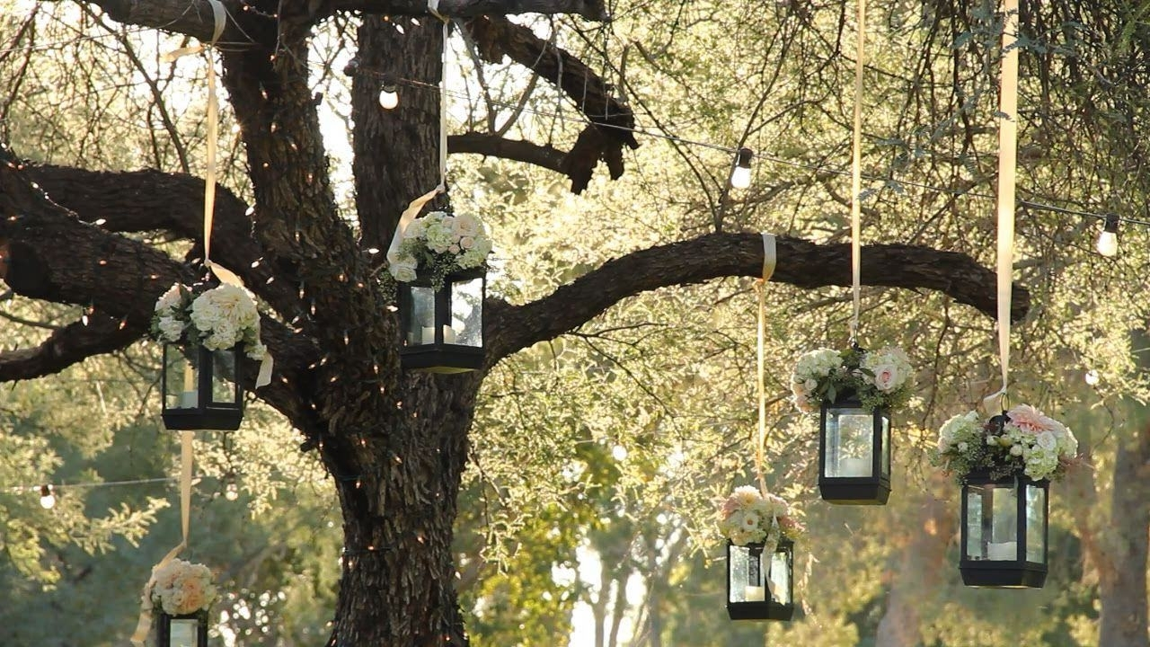 Most Up To Date Outdoor Hanging Lanterns For Wedding Within Tiny Lanterns Wedding (View 11 of 20)