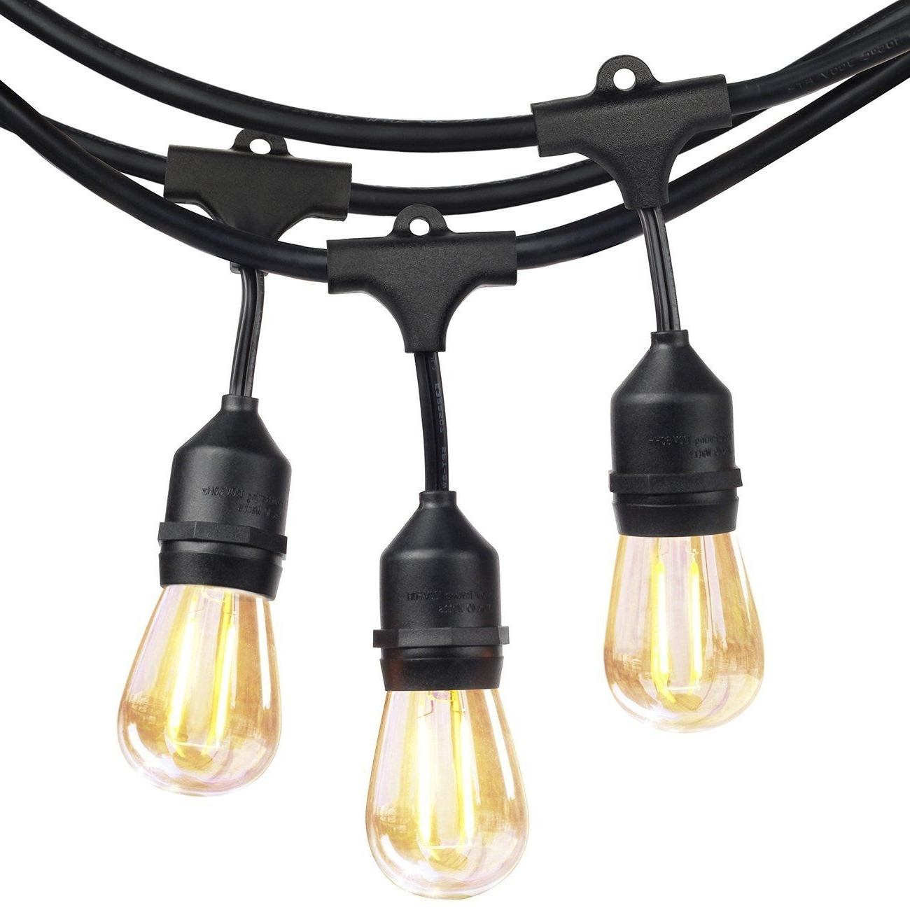 Most Up To Date Outdoor Hanging Lights At Ebay In Shine Hai Led Outdoor String Lights Ul Listed Commercial Grade  (View 11 of 20)