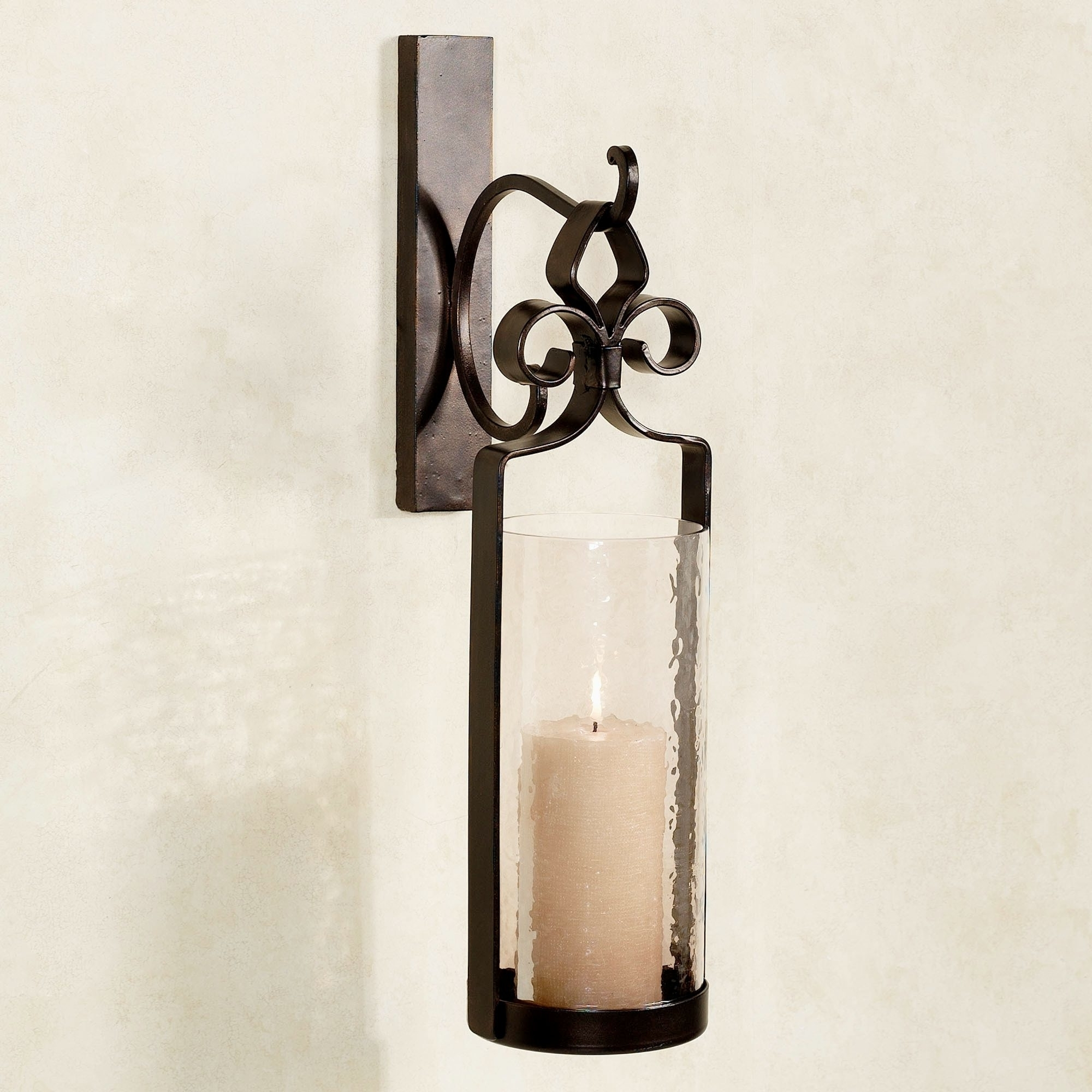 Most Up To Date Outdoor : Metal Wall Sconces Candle Holders Wrought Iron Sconce Inside Modern And Contemporary Outdoor Lighting Sconces (View 16 of 20)