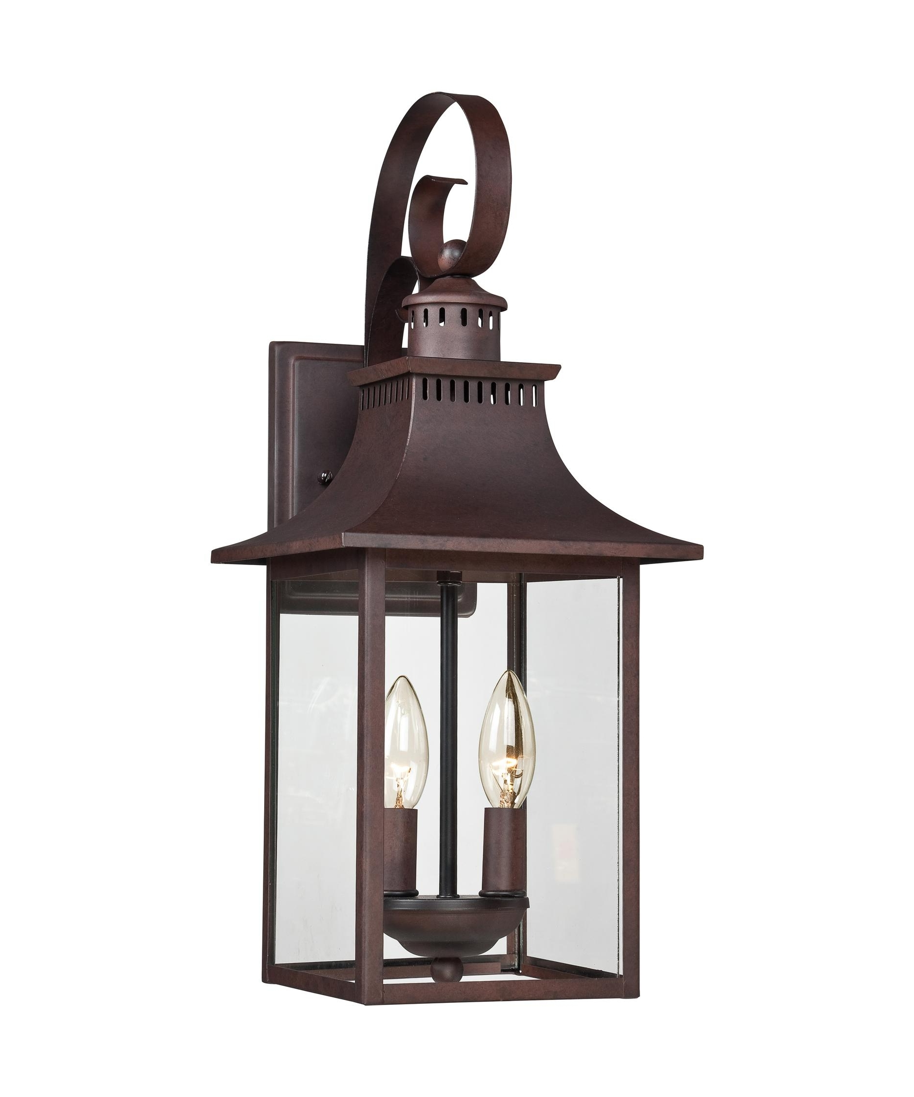 Most Up To Date Quoizel Ccr8408 Chancellor 8 Inch Wide 2 Light Outdoor Wall Light With Bronze Outdoor Wall Lighting (View 18 of 20)