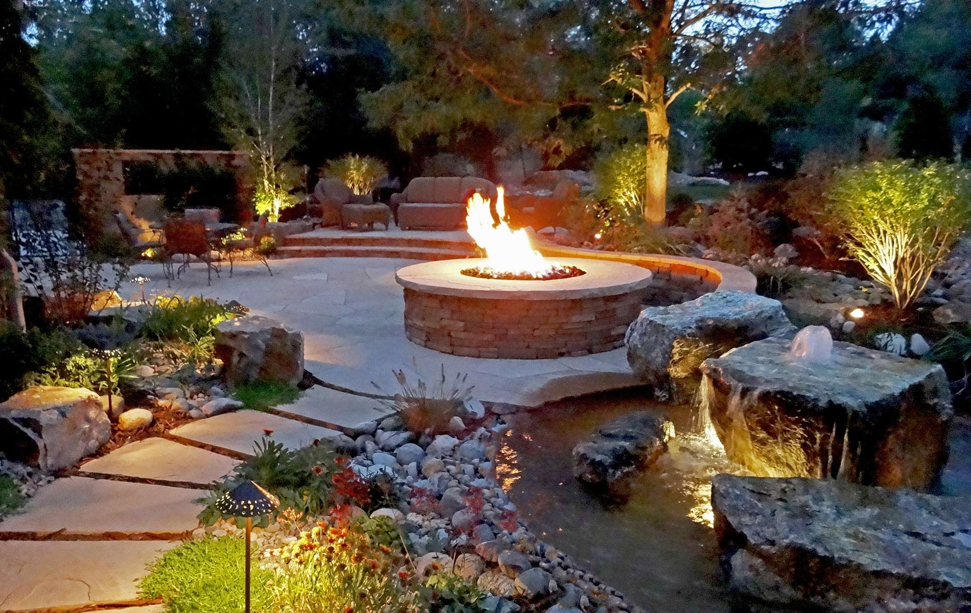 Most Up To Date Rustic Ranch And Large Scale Landscape In Greenwood Village – Mile In Rustic Outdoor Lighting For Modern Garden (View 8 of 20)