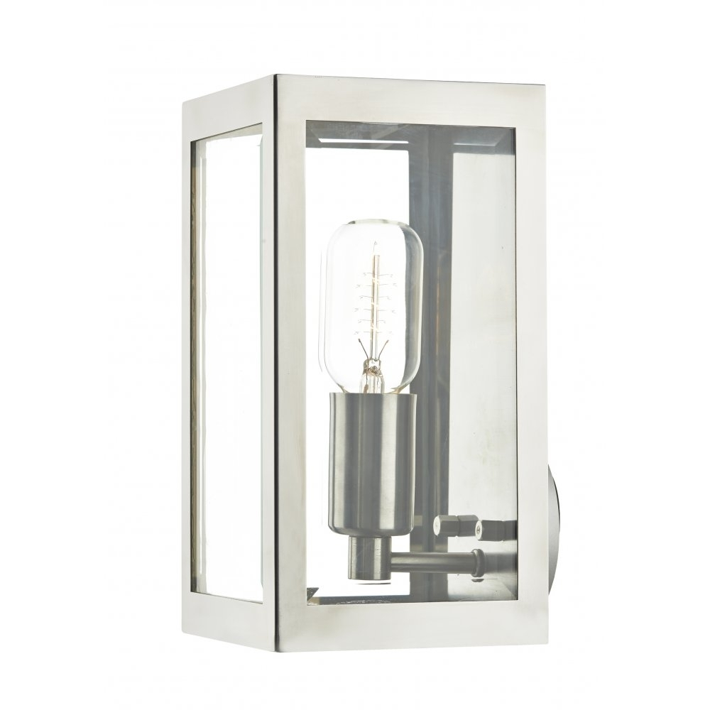 Most Up To Date Rustic Steel Box Outdoor Wall Light – Ip44 Rated For Safe Outdoor Within Chrome Outdoor Wall Lighting (View 2 of 20)