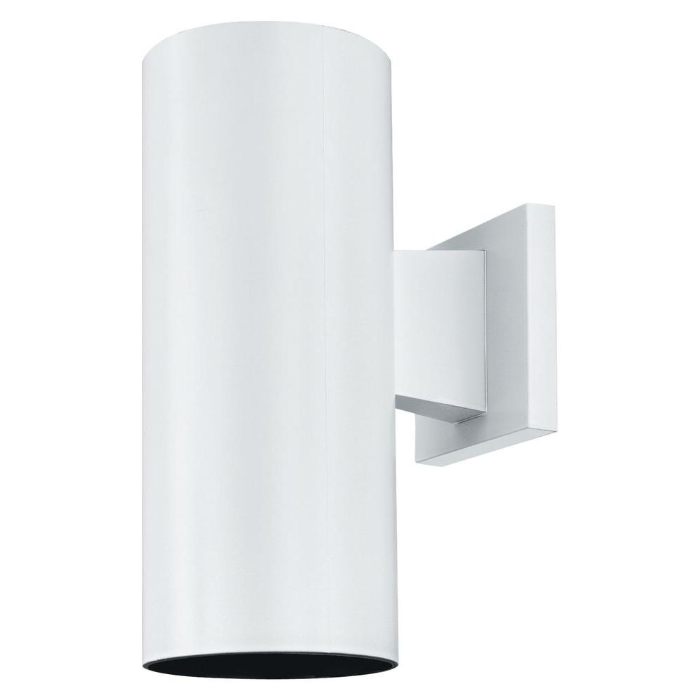 Most Up To Date Thomas Lighting 1 Light Matte White Outdoor Wall Mount Cylinder Pertaining To White Outdoor Wall Mounted Lighting (View 14 of 20)