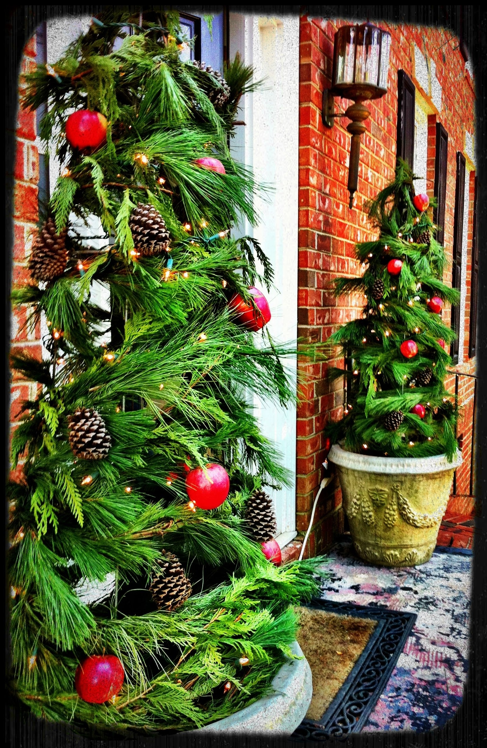 Most Up To Date Tomato Cage Porch Trees. Wrap Garland A Round Tomato Cages (View 15 of 20)