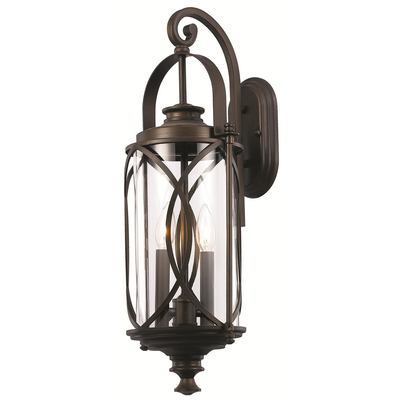 Most Up To Date Trans Globe 40411 Rob Crossover 2 Light Medium Interlocked Wall Pertaining To Outdoor Wall Lantern By Transglobe Lighting (View 5 of 20)