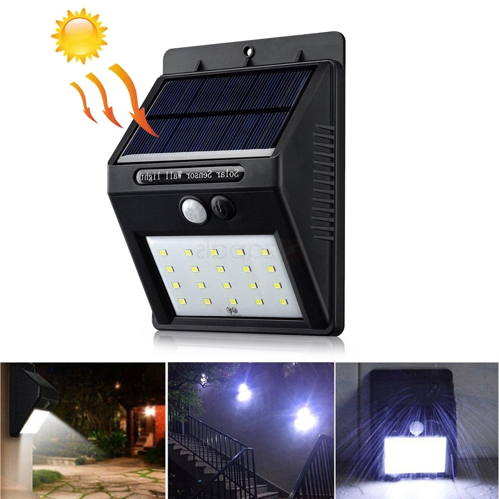 Most Up To Date Waterproof 20 Led Solar Powered Lamp Pir Motion Sensor Outdoor Intended For Pir Solar Outdoor Wall Lights (View 8 of 20)