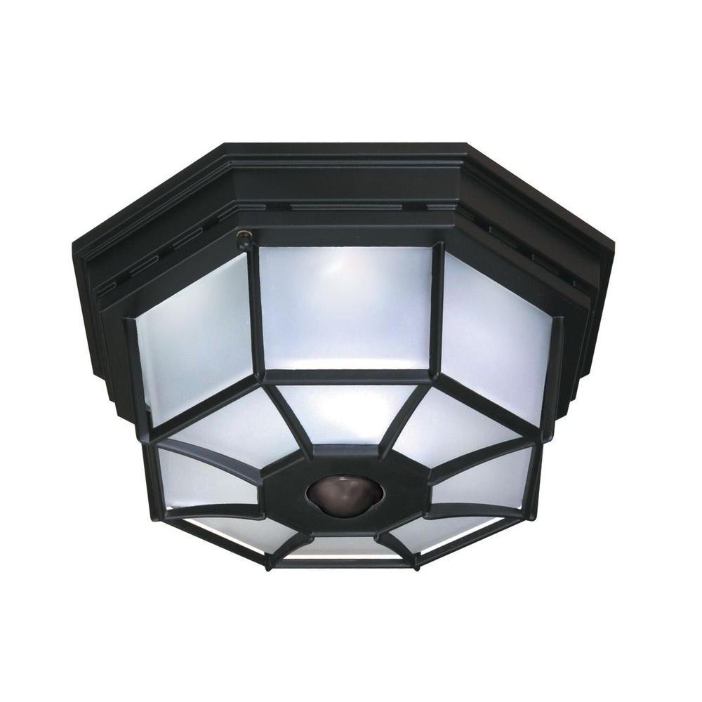 Motion Sensor – Outdoor Flush Mount Lights – Outdoor Ceiling With Trendy Outdoor Motion Sensor Ceiling Mount Lights (View 3 of 20)