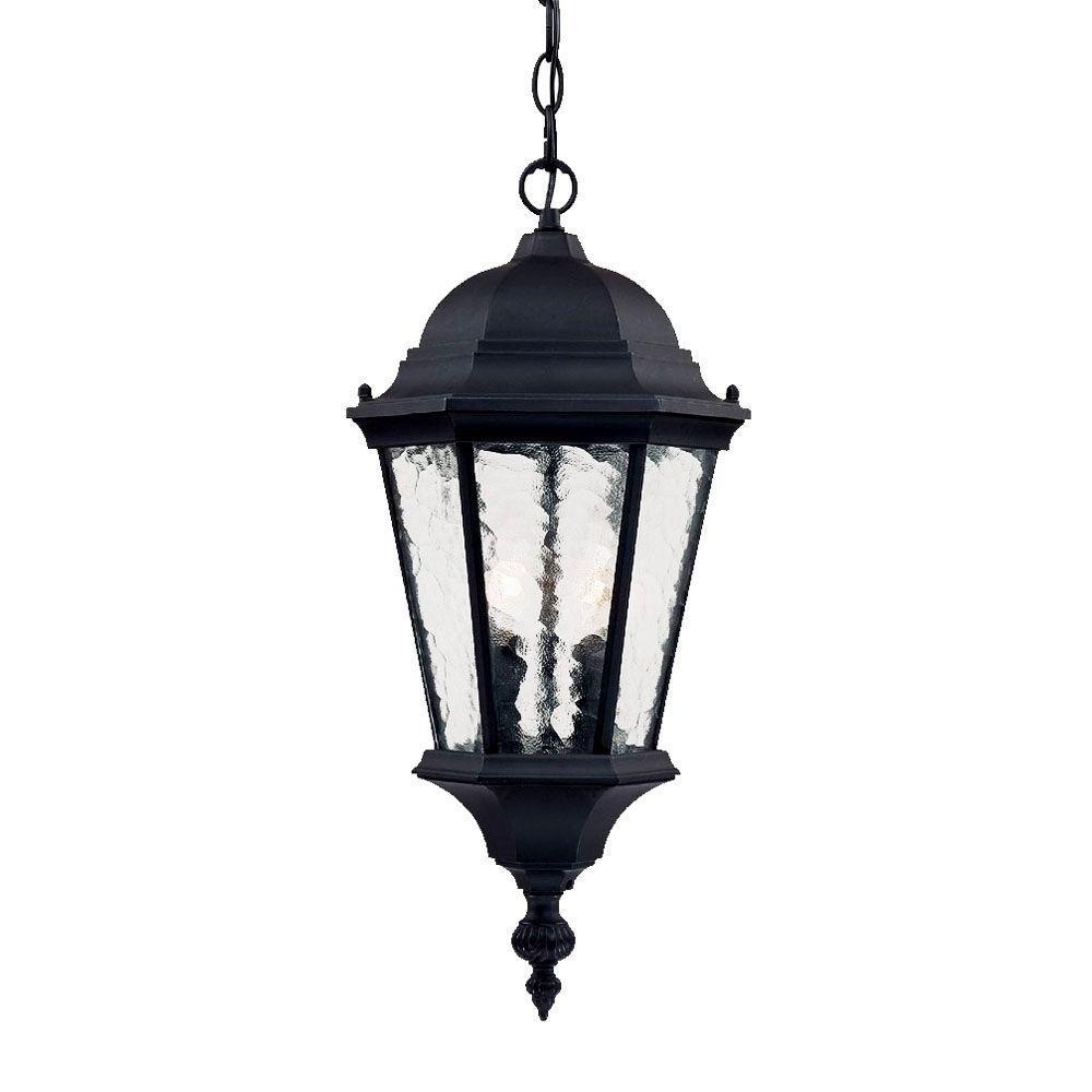 Motion Sensor Outdoor Hanging Lights Regarding Recent Acclaim Lighting Telfair Collection 2 Light Matte Black Outdoor (View 9 of 20)