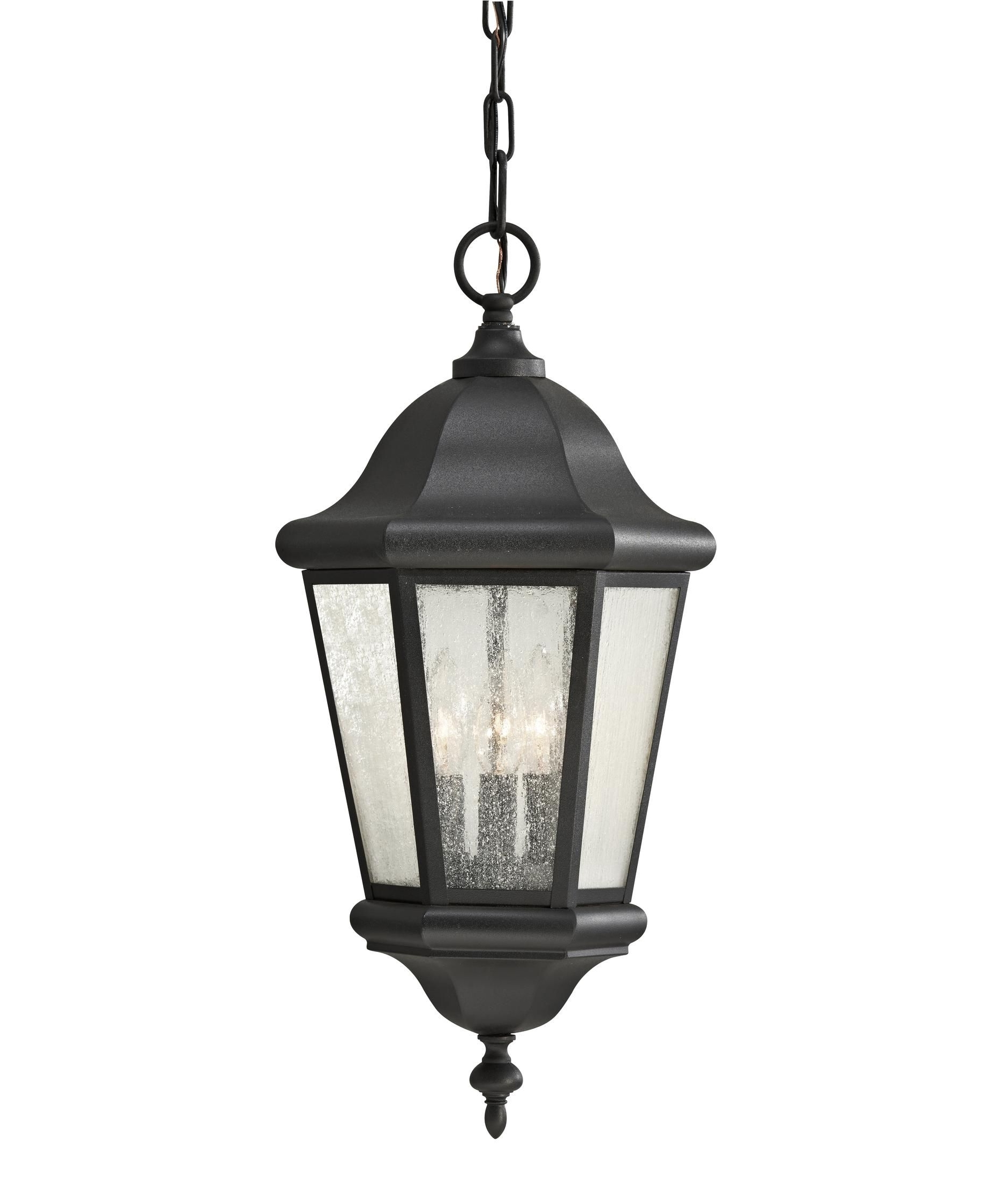 Murray Feiss Ol5911 Martinsville 3 Light Outdoor Hanging Lantern For 2018 Outdoor Hanging Light Fixtures In Black (View 9 of 20)