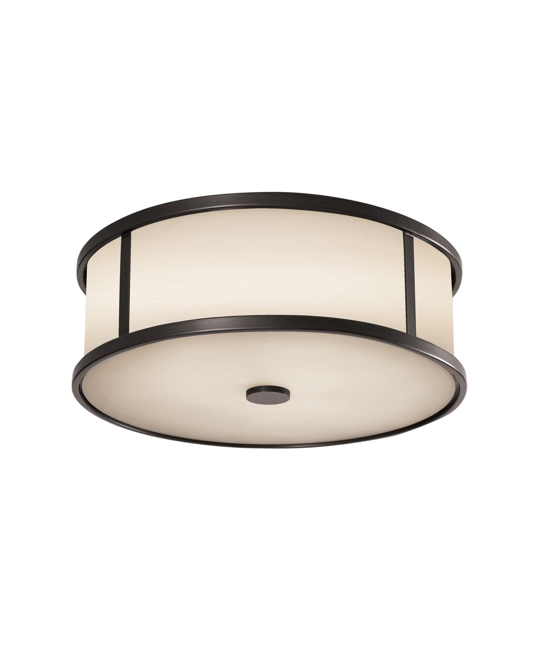 Murray Feiss Ol7613 Dakota 14 Inch Wide 3 Light Outdoor Flush Mount Within Most Up To Date Outdoor Ceiling Mount Led Lights (View 14 of 20)
