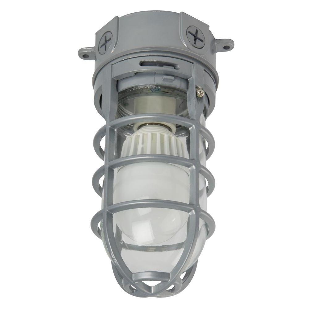 N 1 Light Grey Outdoor Led Ceiling/hanging Vapor Light Ovtled 120 Lp Inside Famous Outdoor Ceiling Mount Led Lights (View 11 of 20)