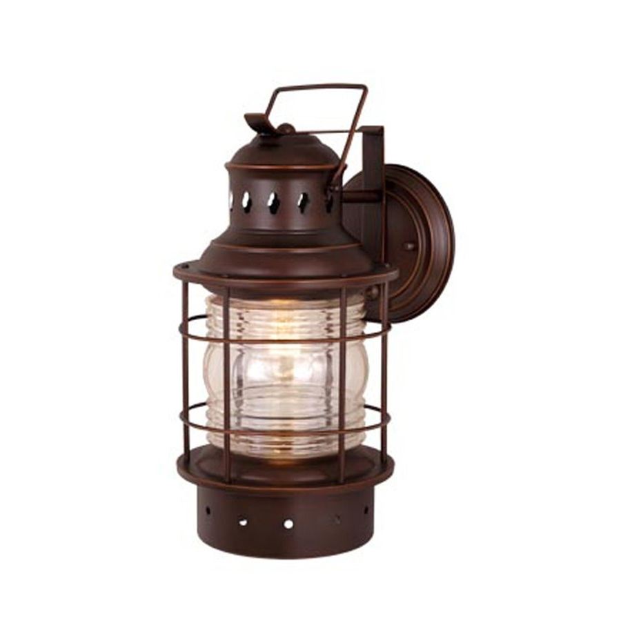 Nautical Outdoor Wall Lighting Regarding Recent Shop Cascadia Lighting Nautical 12 In H Burnished Bronze Outdoor (Gallery 16 of 20)