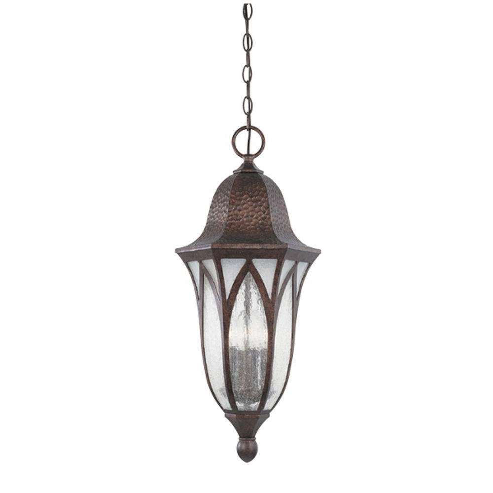 Newest Antique Outdoor Hanging Lights In Designers Fountain Charleston 4 Light Burnished Antique Copper (Gallery 11 of 20)