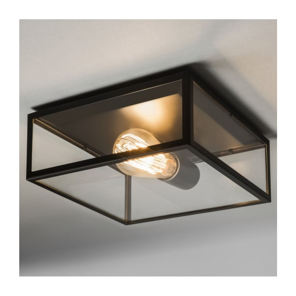 Newest Cheap Outdoor Ceiling Lights Inside Astro Lighting Bronte Vintage Outdoor Ceiling Light In Black Finish (Gallery 4 of 20)