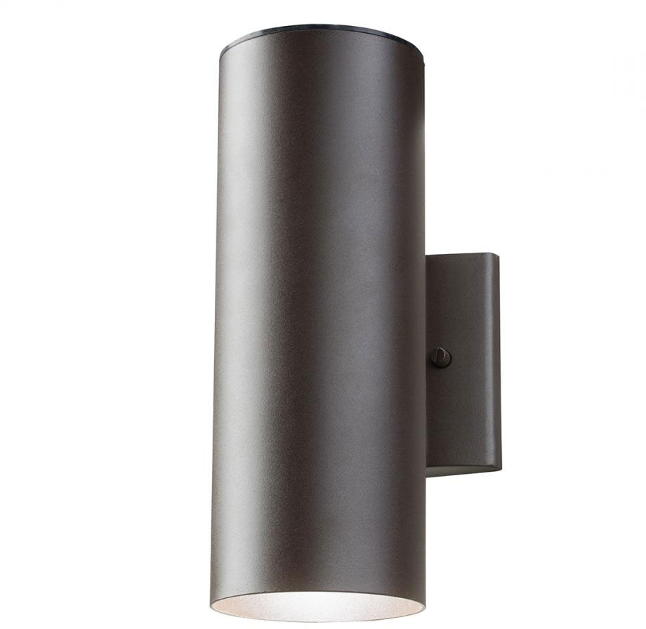 Newest Contemporary Outdoor Wall Mount Lighting Regarding Kichler 11251azt30 Contemporary Textured Architectural Bronze Led (View 8 of 20)