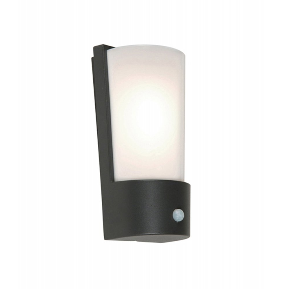 Newest Elstead Lighting Azure Low Energy 7 Dark Grey Outdoor Wall Light Pir With Regard To Grey Outdoor Wall Lights (View 15 of 20)