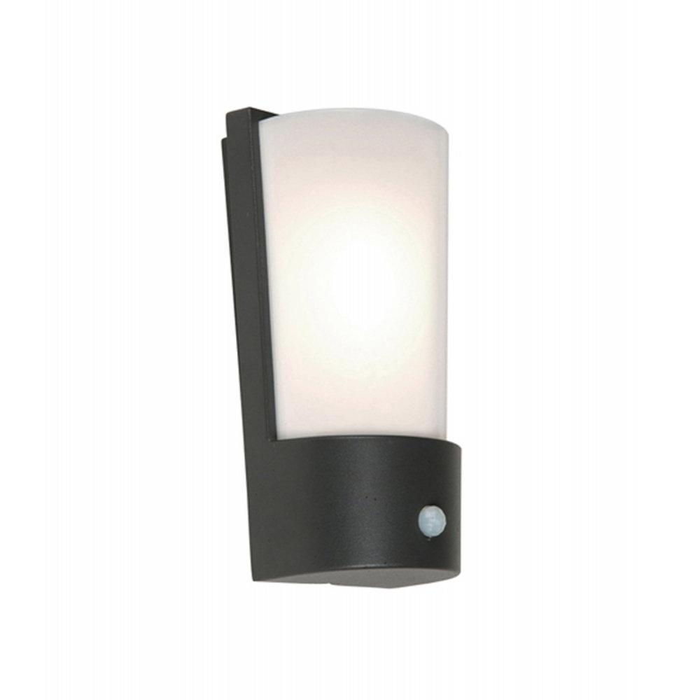 Newest Elstead Lighting Azure Low Energy 7 Dark Grey Outdoor Wall Light Pir With Regard To Grey Outdoor Wall Lights (View 15 of 20)