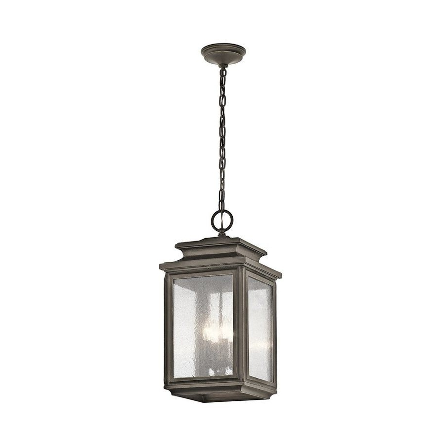 Newest Kichler Wiscombe Park 23 In Olde Bronze Outdoor Pendant Light Inside Outdoor Hanging Light Pendants (Gallery 5 of 20)