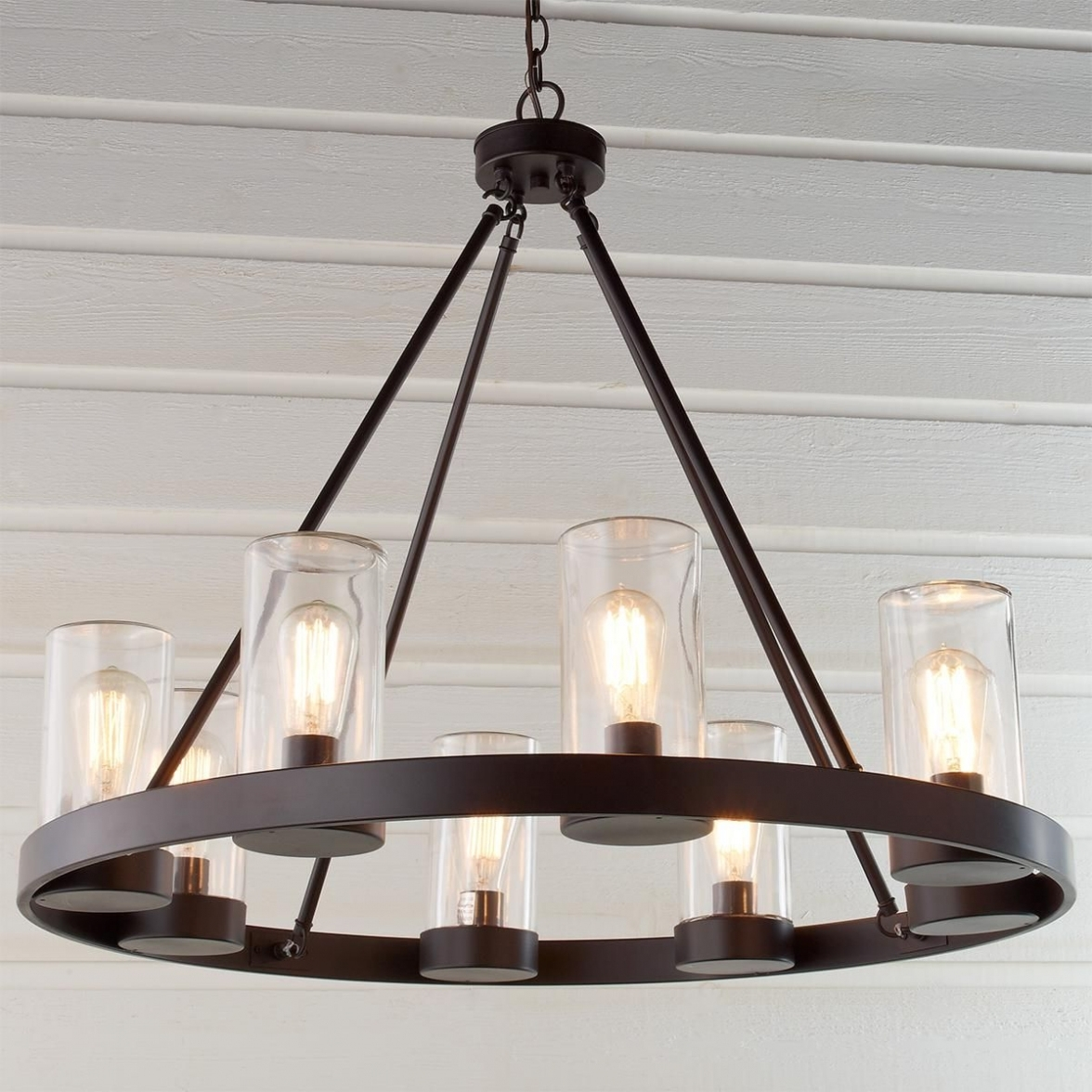 Newest Lighting: Kichler Lighting Barrington 5 Light Distressed Black And For Outdoor Chandelier Kichler Lighting (View 10 of 20)