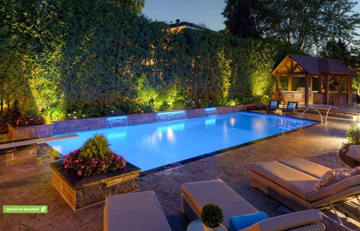 Newest Lighting : Landscape Lightingas Richmonds Walkways Around Pool With Regard To Outdoor Hanging Pool Lights (View 9 of 20)