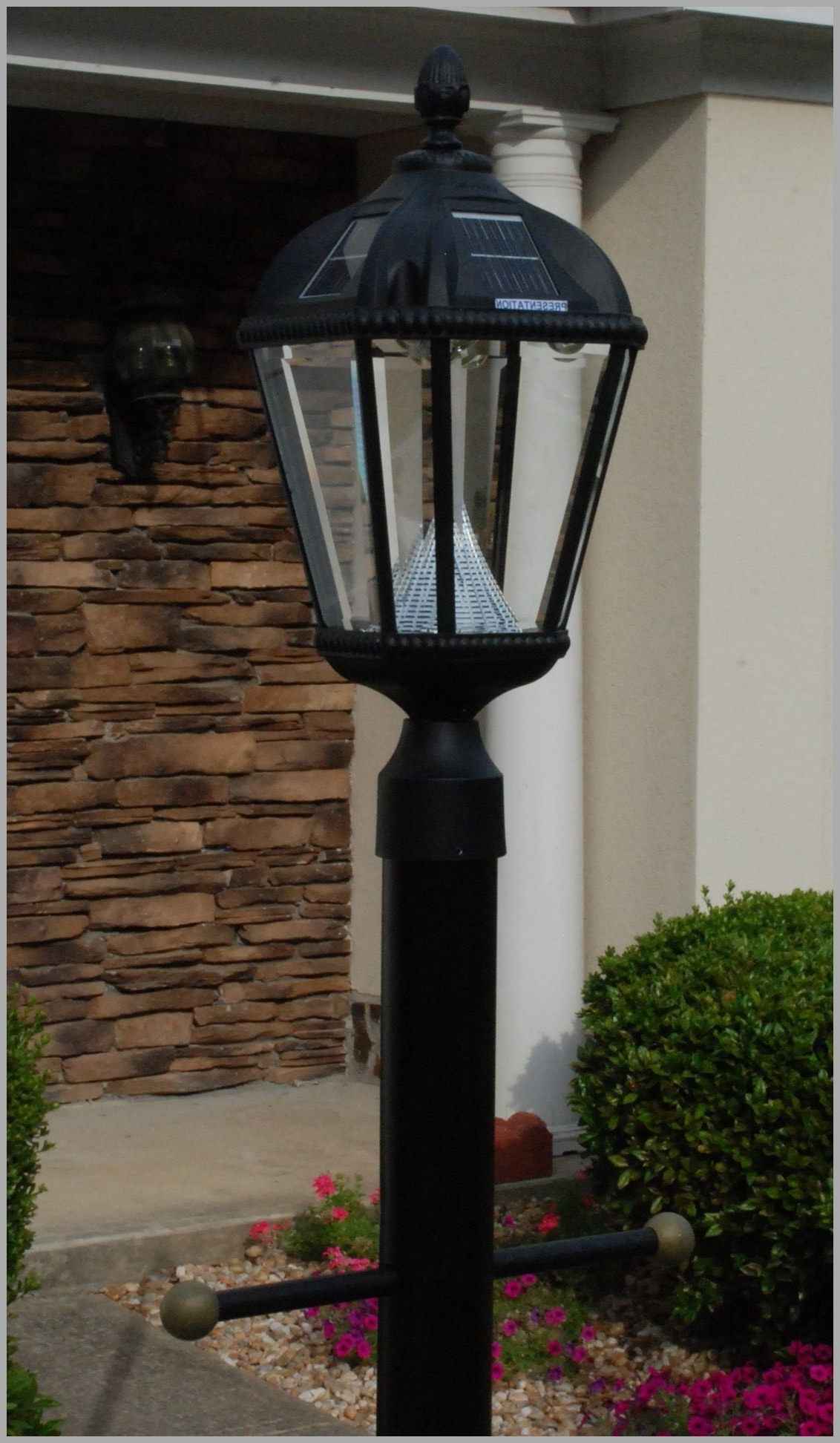 Newest Modern Led Post Lights At Home Depot Pertaining To Lighting : Driveway Street Lamps Home Depot Gas Solar Lamp Post (View 6 of 20)