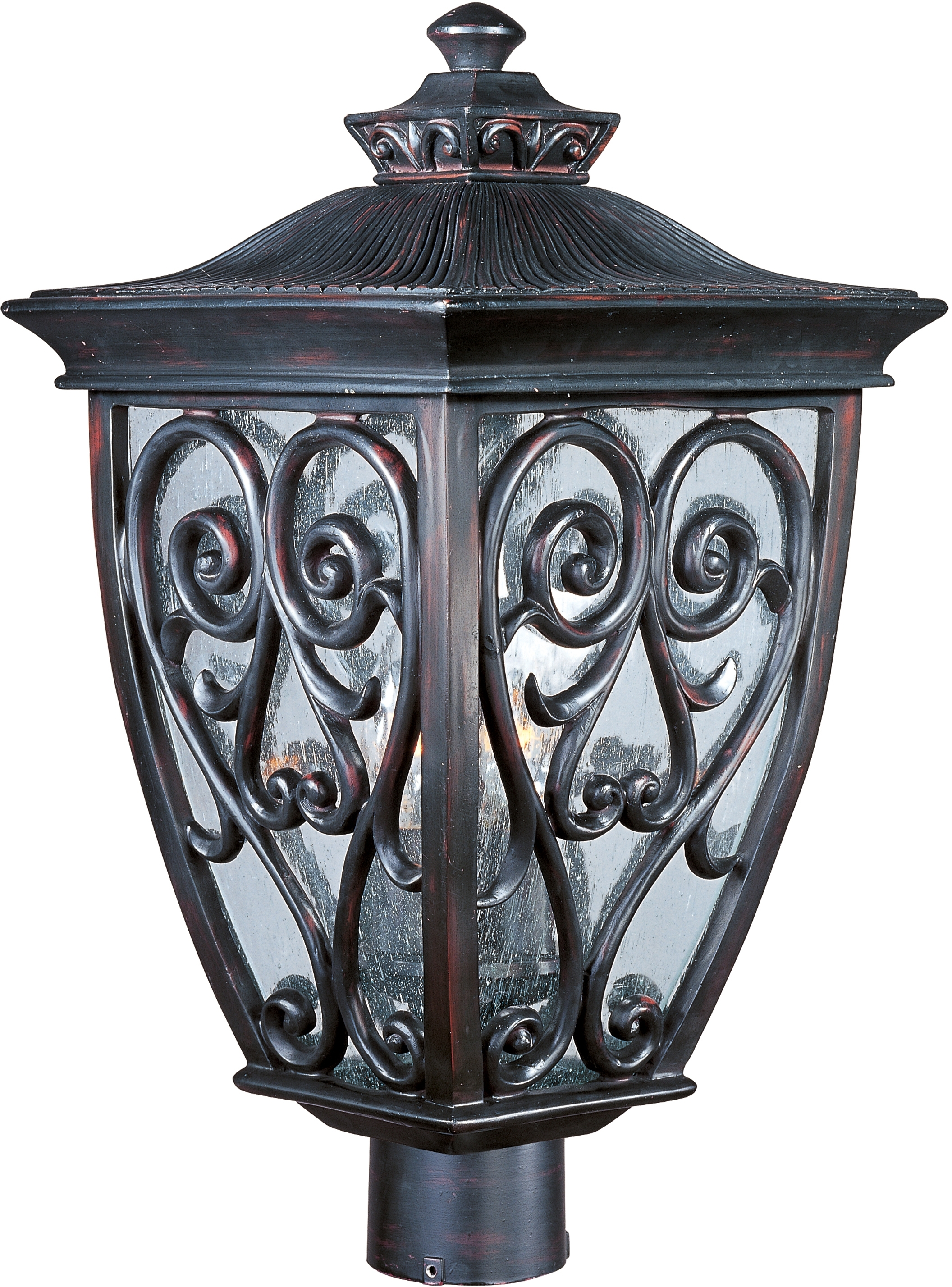 Newest Newbury Vx 3 Light Outdoor Pole/post Lantern – Outdoor Pole/post Regarding Outdoor Led Post Lights Fixtures (Gallery 15 of 20)