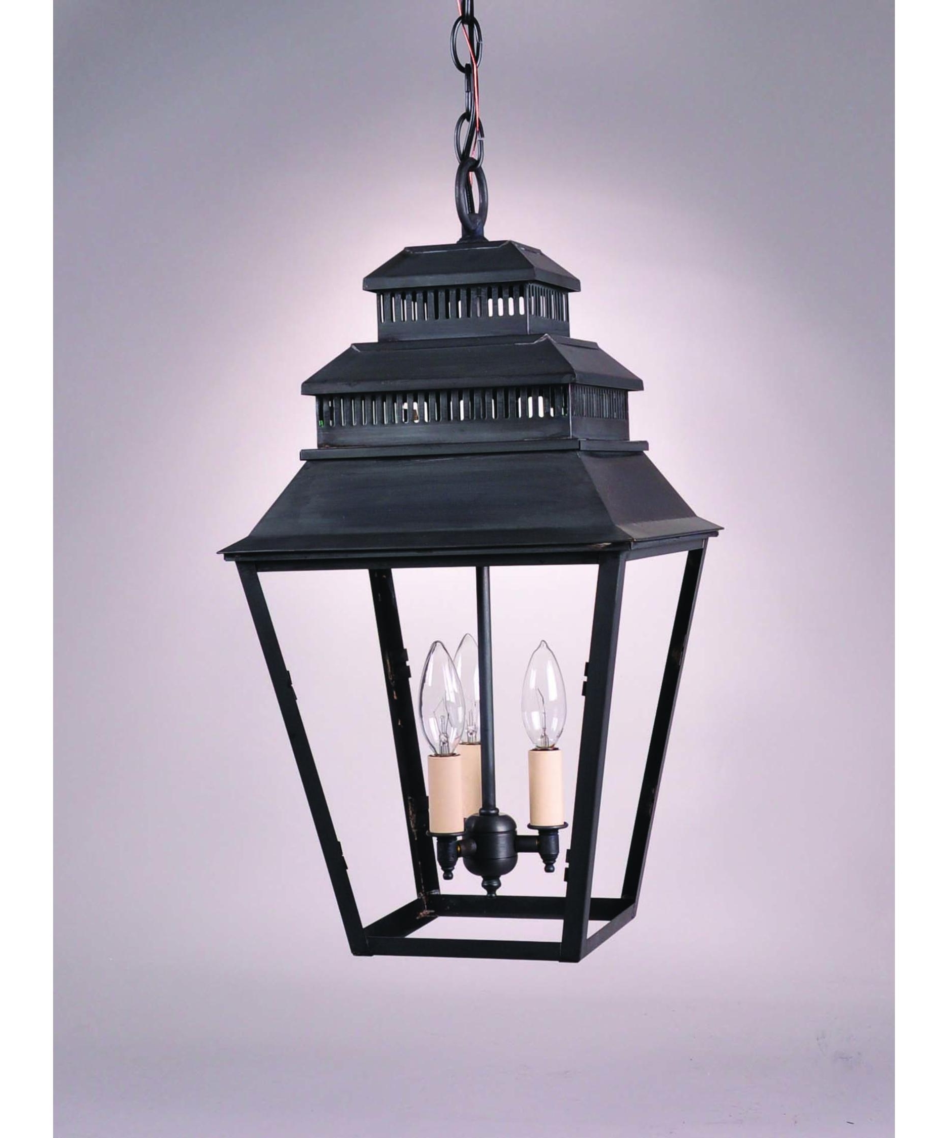 Newest Northeast Lantern 8642 Med Elryan 11 Inch Wide 1 Light Outdoor Within Outdoor Hanging Glass Lights (View 6 of 20)
