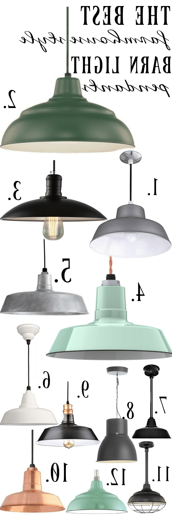 Newest Outdoor Barn Ceiling Lights Inside Farmhouse Barn Light Pendants (View 13 of 20)