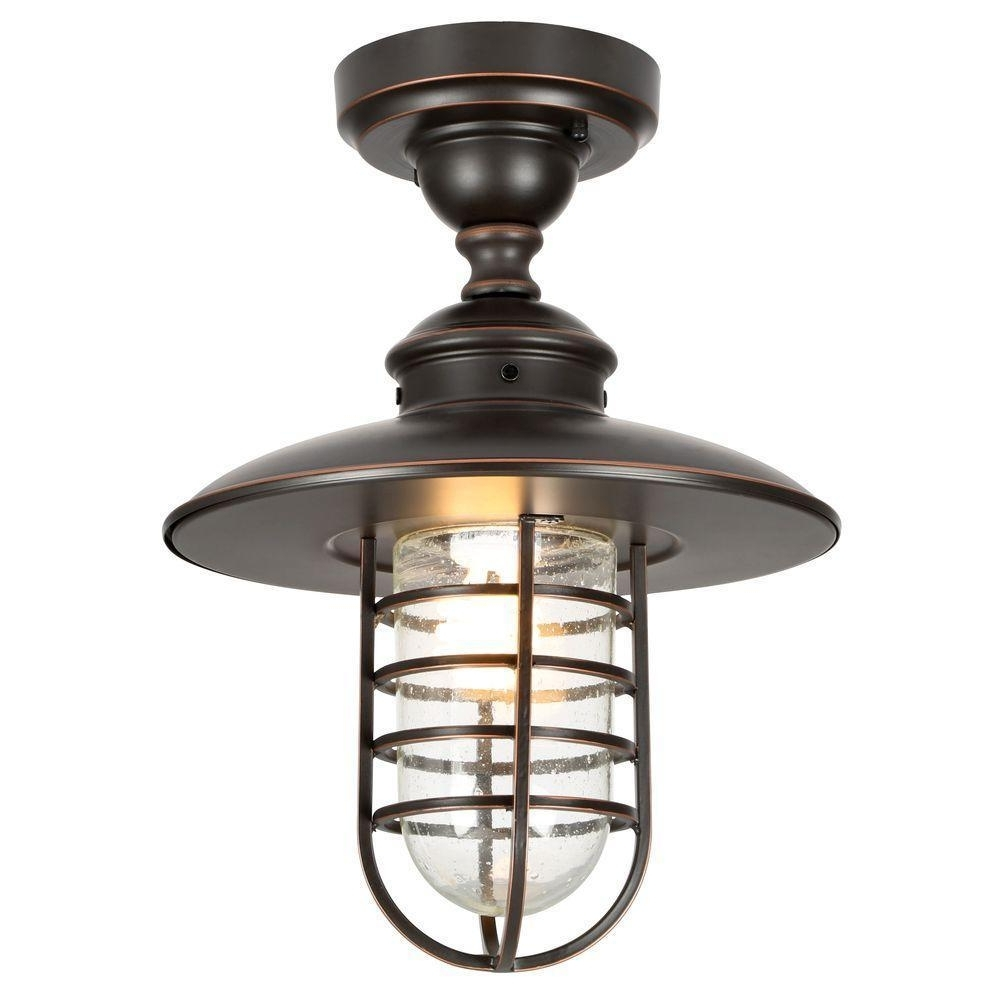 Newest Outdoor Ceiling Mount Porch Lights Intended For Outdoor Lighting: Stunning Ceiling Mount Porch Light Flush Mount (View 9 of 20)