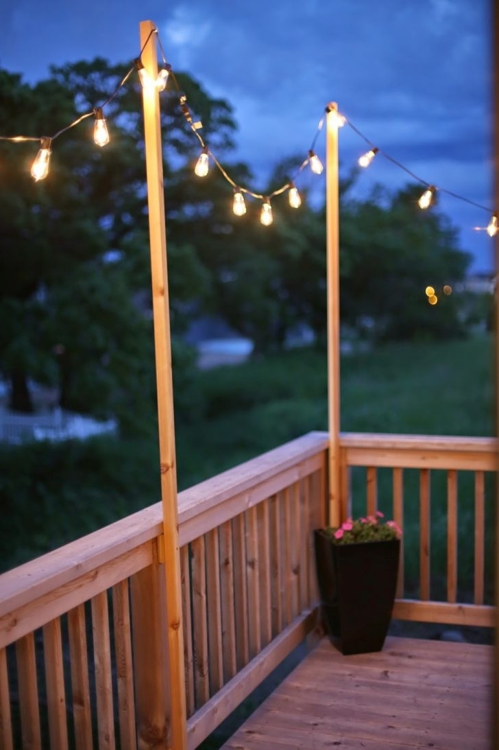 Newest Outdoor Deck String Lighting – Outdoor Designs Throughout Hanging Outdoor Lights On Deck (Gallery 13 of 20)