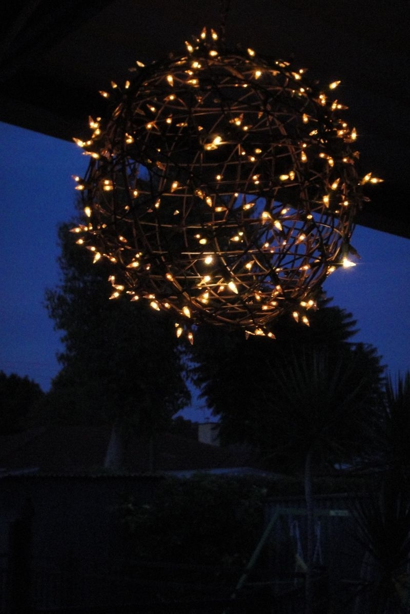 Newest Outdoor Hanging Basket Lights For Fairy Light Globe (View 9 of 20)