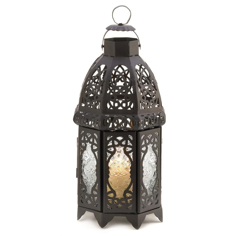 Newest Outdoor Lantern, Black Lattice Hanging Metal Decorative Floor With Outdoor Hanging Decorative Lanterns (View 10 of 20)