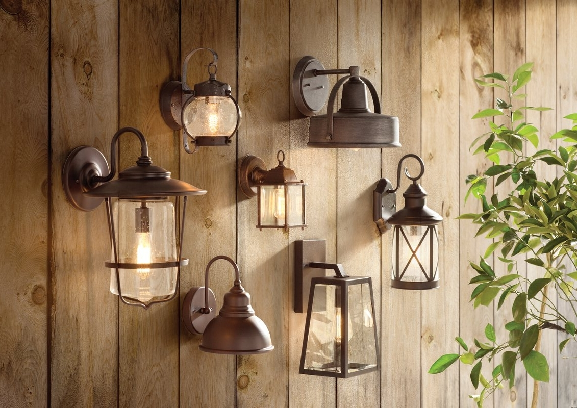 Newest Outdoor Wall Lantern Lighting With Wrought Studio Catanzaro 1 Light Outdoor Wall Lantern & Reviews (View 11 of 20)