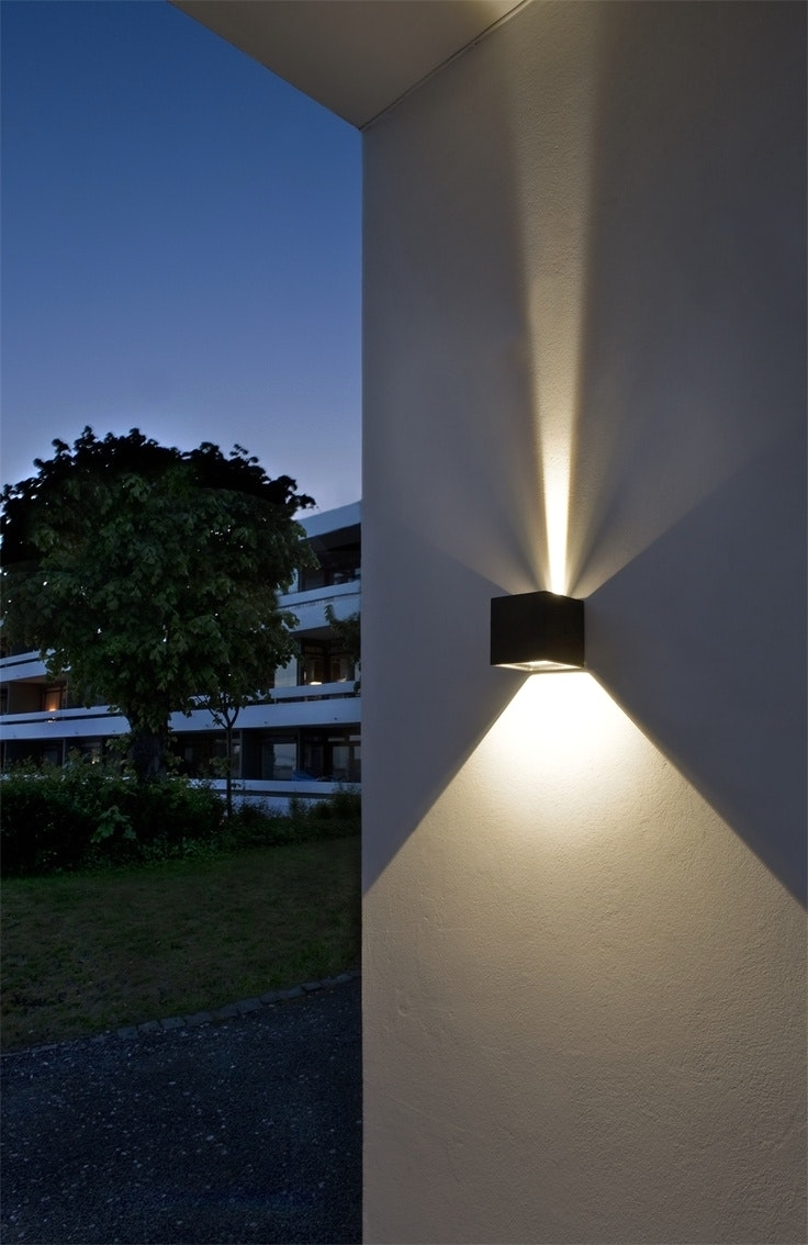 Newest Outdoor Wall Led Lights And 34 Best J Minimalism Lighting Images On Regarding Best Outdoor Wall Led Lights (Gallery 5 of 20)