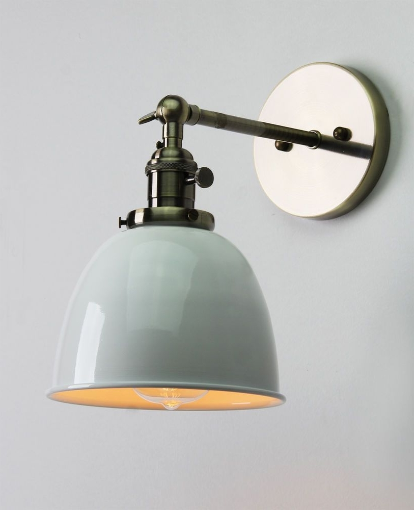 Newest Outdoor Wall Lighting At Ebay For Vintage Antique Industrial Bowl Sconce Loft Wall Light Wall Lamp E27 (Gallery 1 of 20)