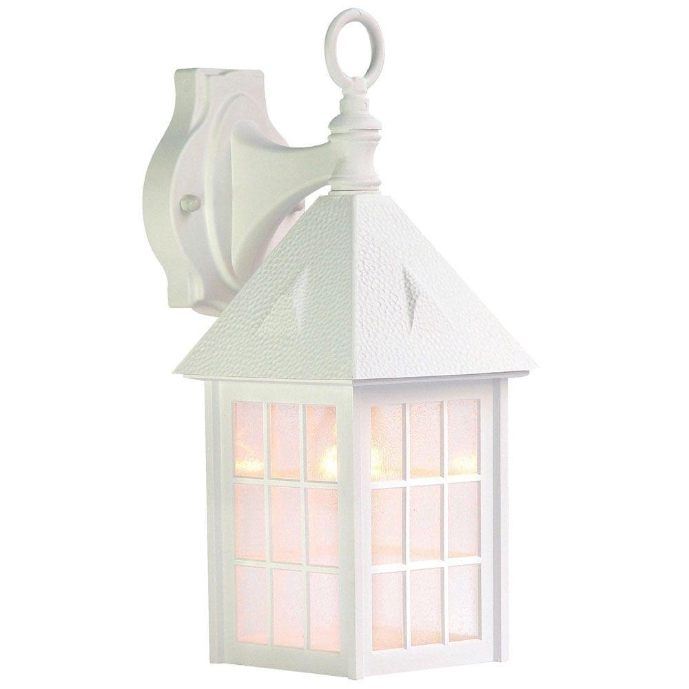 Newest Outdoor Wall Lighting At Wayfair Pertaining To Acclaim Lighting Outer Banks Collection 1 Light Textured White (View 10 of 20)
