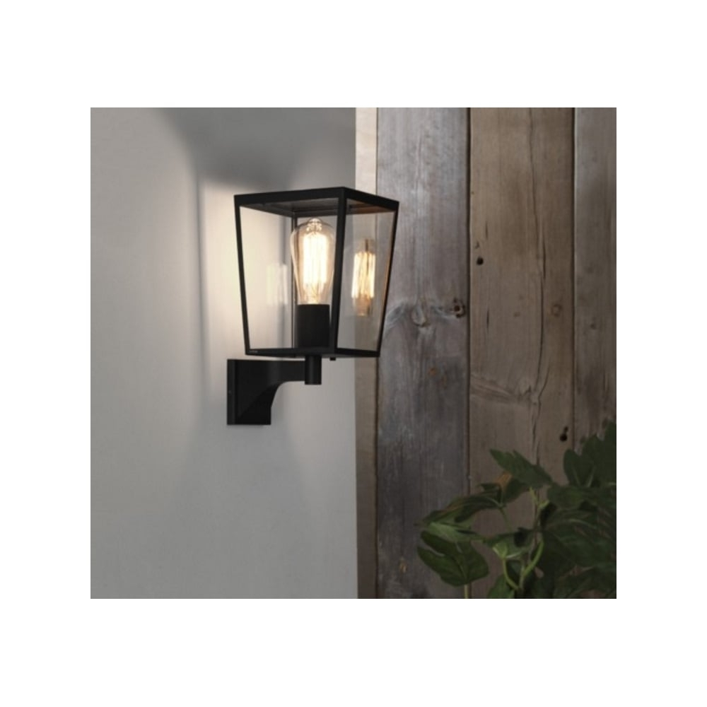 Newest Outdoor Wall Lights In Black With Astro Lighting Outdoor Wall Light In Black Finish With Glass Panels (View 9 of 20)