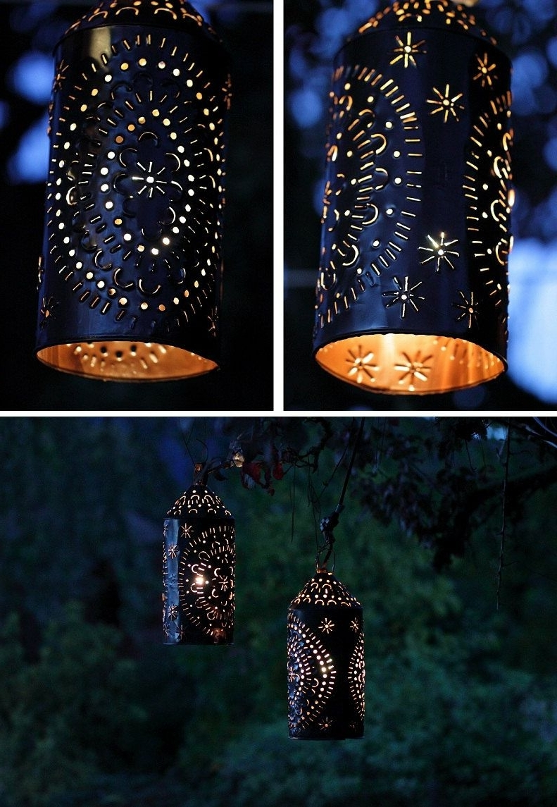 Newest Punched Tin Light Lantern Primitive Rustictheuglybarnfarm Regarding Mexican Outdoor Hanging Lights (View 12 of 20)
