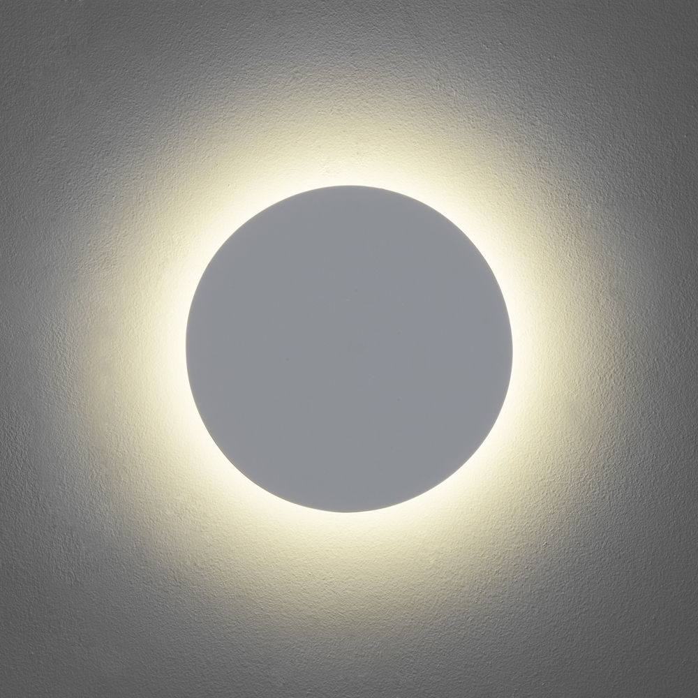 Newest Round Outdoor Wall Lights Intended For Outdoor Lighting: Astro Eclipse Round Led Wall Light Dusk Lights Led (View 13 of 20)