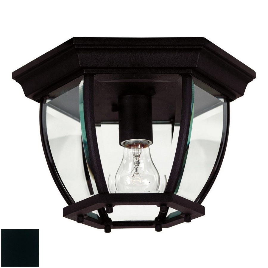 Newest Shop Outdoor Flush Mount Lights At Lowes Within Black Outdoor Ceiling Lights (View 19 of 20)