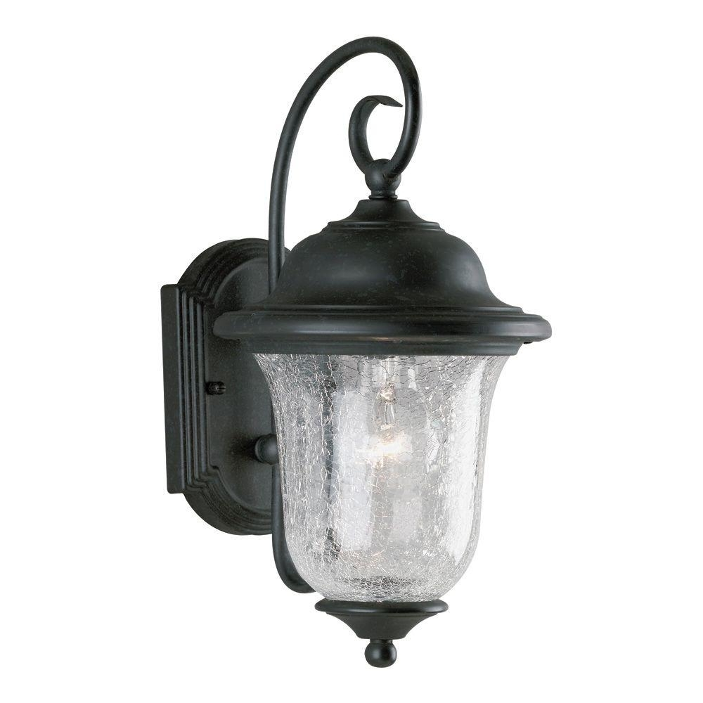 Newest Westinghouse 1 Light Vintage Bronze Steel Exterior Wall Lantern With Intended For Outdoor Wall Lighting With Outlet (View 20 of 20)